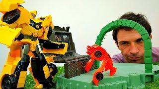 Роботы Трансформеры - Автоботы и телепорт Десептиконов - Игры  для мальчиков