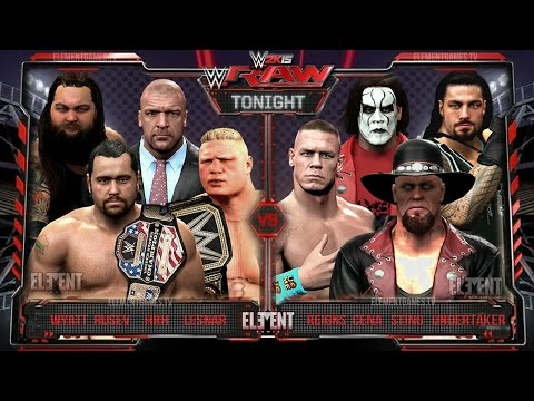 WWE RAW 2K15 : Undertaker, Sting, John Cena & Reigns vs Brock Lesnar, HHH, Wyatt & Rusev - 23/03/15 thumbnail