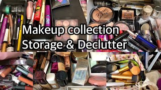 MAKEUP COLLECTION, STORAGE & DECLUTTER | Makeup Collection & Storage India | Nidhi Chaudhary
