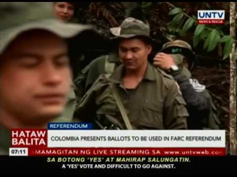 Colombia presents ballots to be used in Farc Referendum