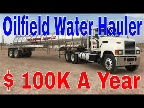100k Year Hauling Texas Oilfield Water CDL Truckers | Red Viking Trucker