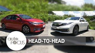 2019 Honda Civic VS. 2017 Toyota Corolla Altis | Head-to-Head
