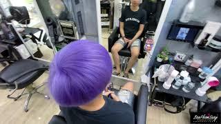 """สีผมม่วงพาสเทล #Pastel_purple_hair"""""""
