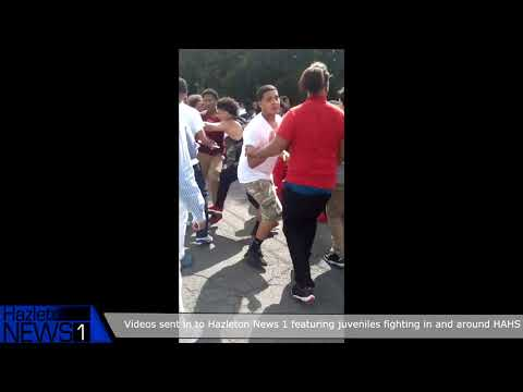 Compilaiton of fights in and around HazleTon Area High School