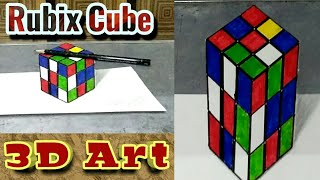 3D Rubix Cube Drawing