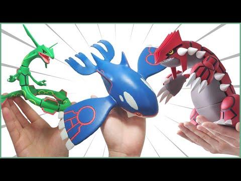 THEY BIG!! NEW Pokemon Groudon, Kyogre & Rayquaza Scale World Figures