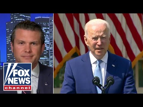 Pete Hegseth reacts to Biden's latest gaffe