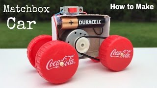 How to Make a Toy Car at Home using Matchbox - DIY Mini Electric Car