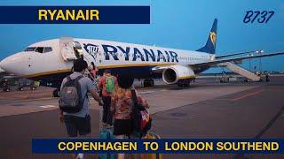 RYANAIR   COPENHAGEN TO LONDON SOUTHEND   B737   TRIP REPORT