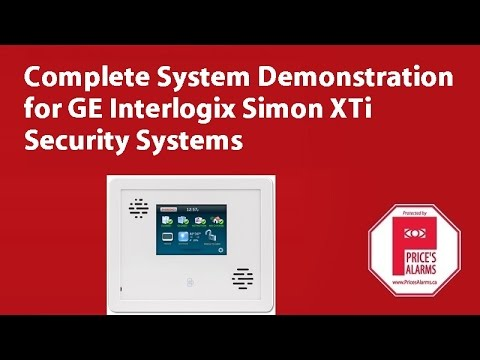 Ge Interlogix Simon Xti Security System Demonstration