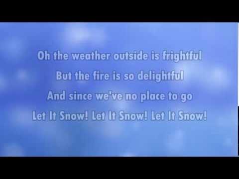 Let it snow (karaoke - lyrics)