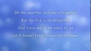Let it snow (karaoke - lyrics)