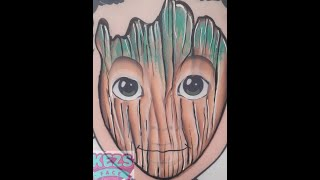 Baby Groot - Kezs Face Painting