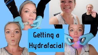 Getting a Hydrafacial! (oddly satisfying)