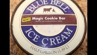 Blue Bell: Magic Cookie Bar Ice Cream Review