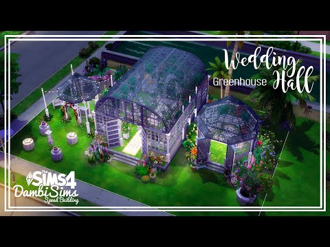the-sims-4-speed-building---wedding-hall-greenhouse-[심즈4-건축/집짓기]-결혼식-온실웨딩홀