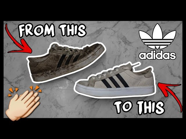 CLEANING FILTHY SUEDE ADIDAS SUPERSTARS