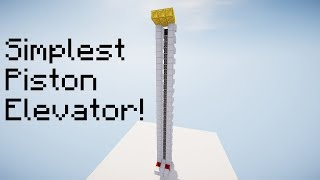 SIMPLEST Piston Elevator! Minecraft 1.14.2