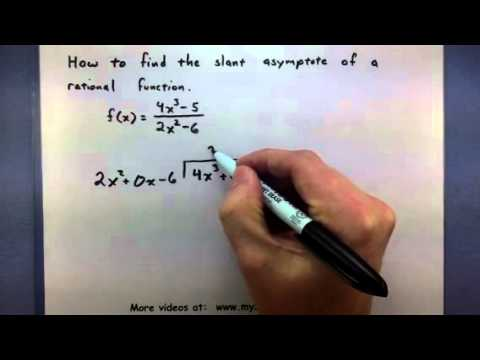 Pre-Calculus - How to find the slant asymptote of a rational ...