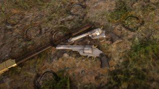 RDR2: Del Lobos unique custom worn guns.