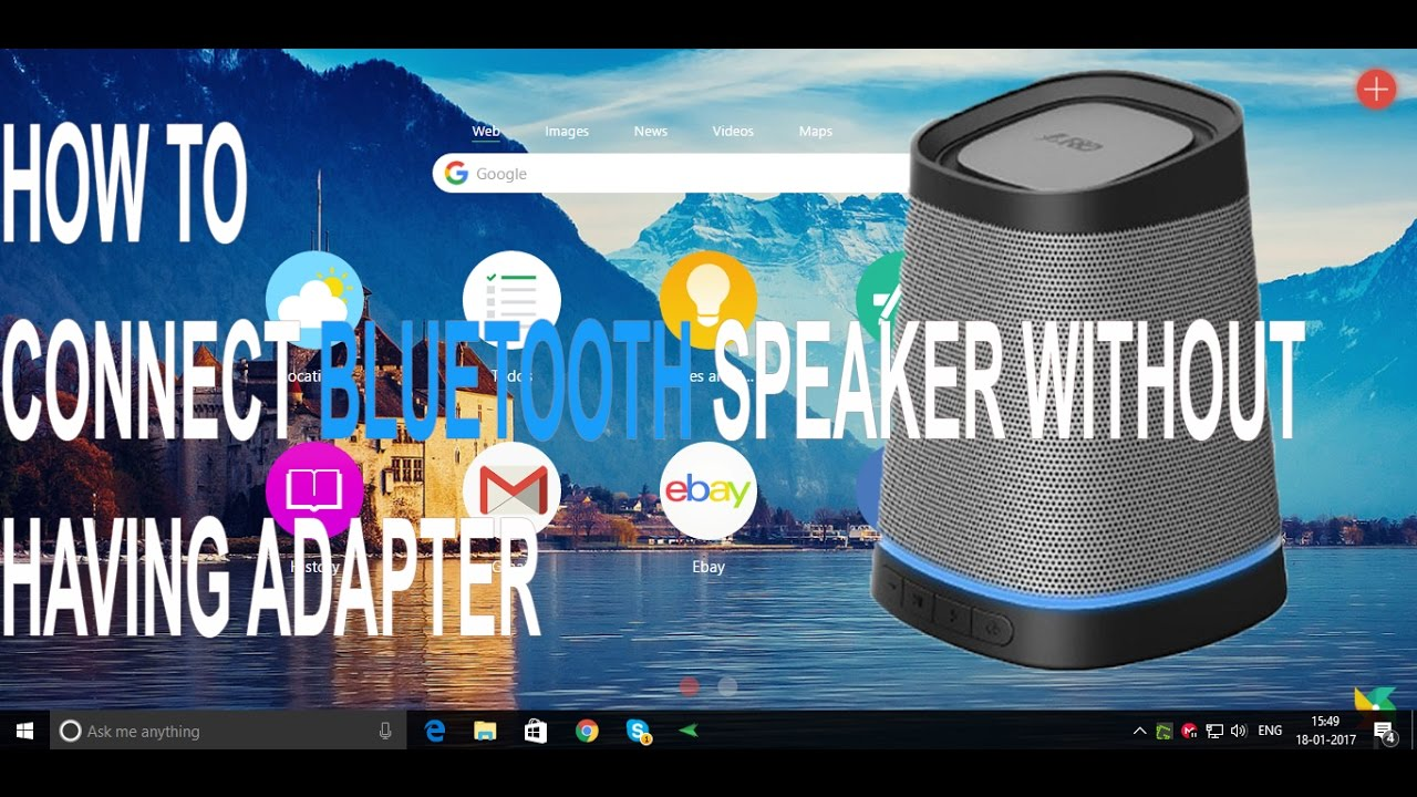 how to connect bluetooth speaker to pc without having adapter youtube. Black Bedroom Furniture Sets. Home Design Ideas