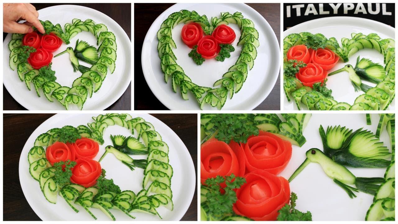 Super Salad Decorations Ideas | Creative Vegetable Flower Plate Decoration