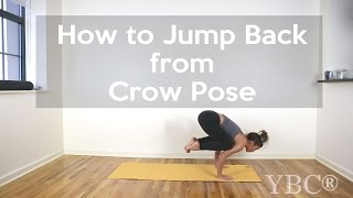 How to Jump Back from Crow Pose