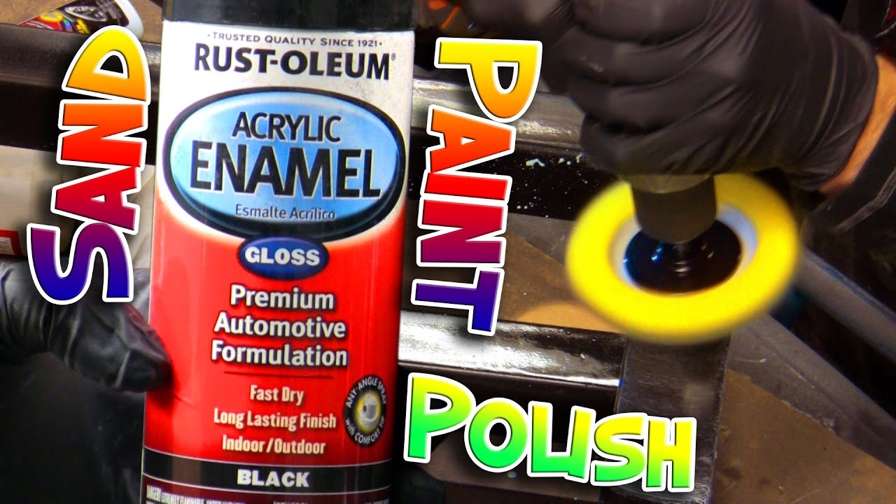 How to fix, wet sand & polish Rust-Oleum spray paint