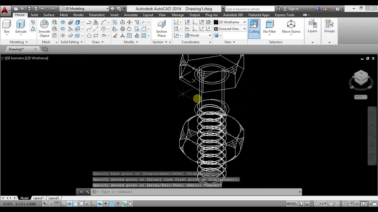 Bolt and Nut Autocad Tutorial