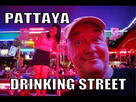 Drinking Street Second Road Pattaya Thailand.