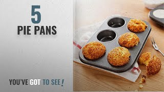 Top 10 Pie Pans [2018]: Kurtzy Carbon Steel 6 Cups Non Stick Baking Pan Bakeware Moulds For Muffins