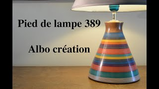 Création pied de lampe en valchromat. N° 389
