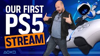 Our First PlayStation 5 Stream - We React To PS5 and Astro's Playroom