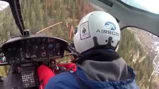 Helicopter Logging - Cockpit View As-350 B2