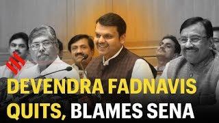Devendra Fadnavis resigns as Maharashtra CM, blames Shiv Sena