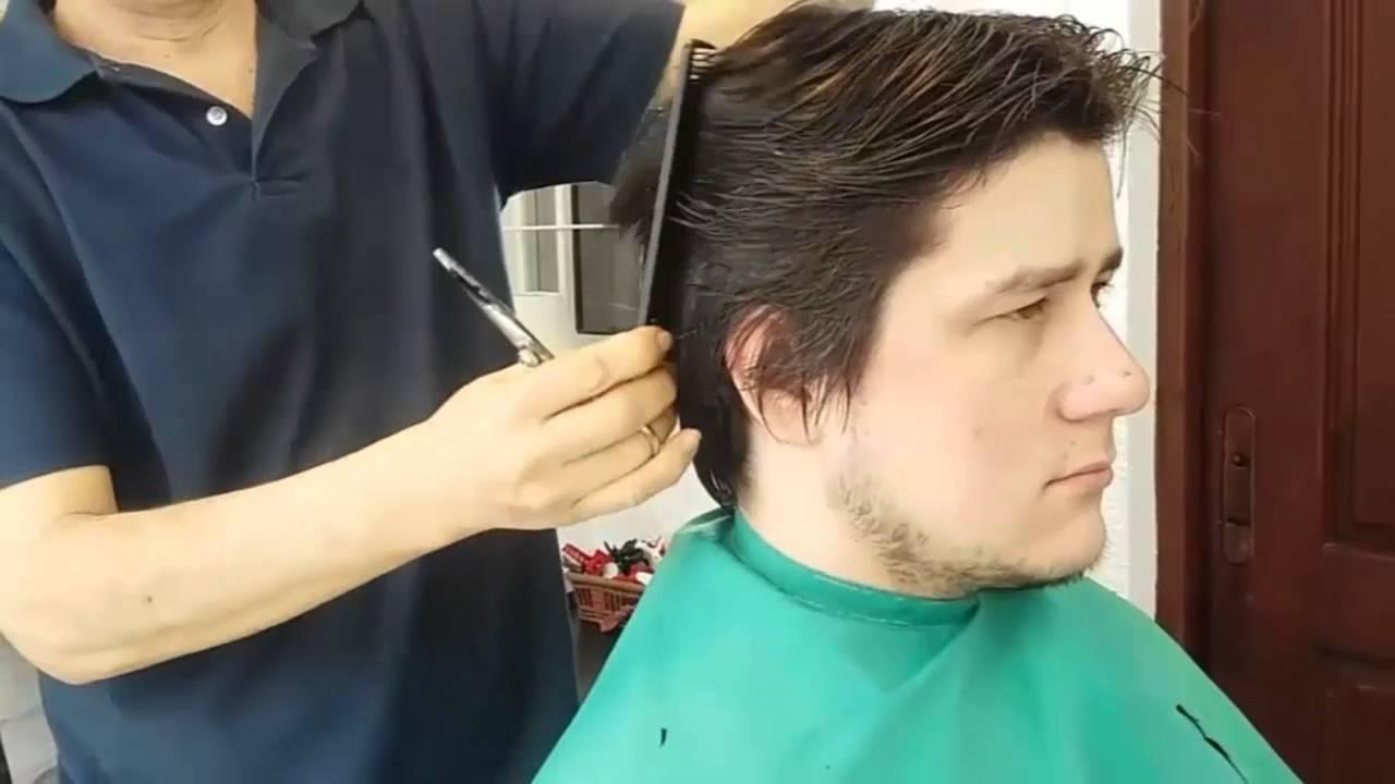 Corte de pelo con tijeras para hombres