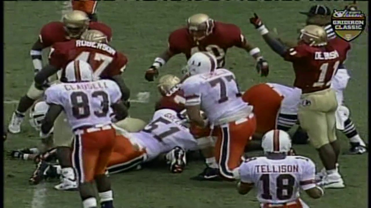 1993 3 miami vs 1 florida state hd youtube 1 florida state hd voltagebd Image collections