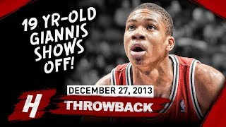 The Game 19 Yr-Old Rookie Giannis Antetokounmpo SHOWED OFF vs Nets 2013.12.27 - CRAZY Highlights!