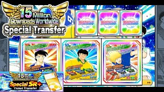 Captain Tsubasa Dream Team ( Opening 120 Ticket from 15 Million Download Banner )