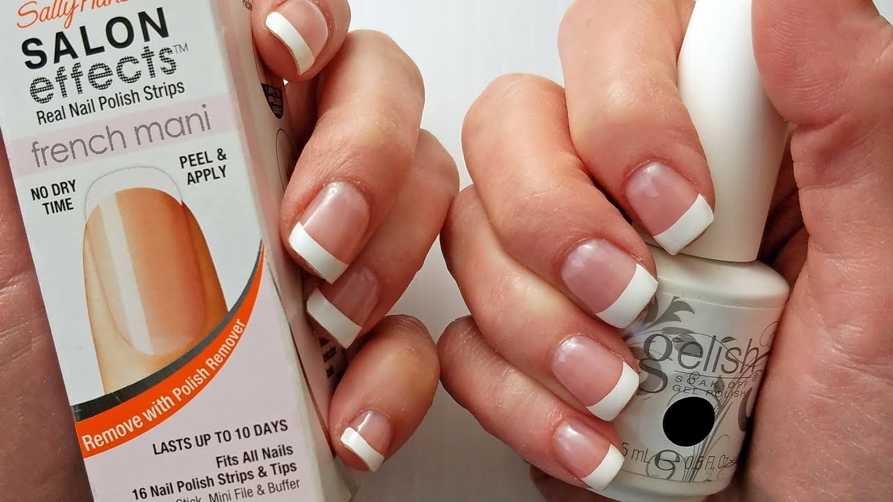 Easy DIY Gelish French Manicure - YouTube