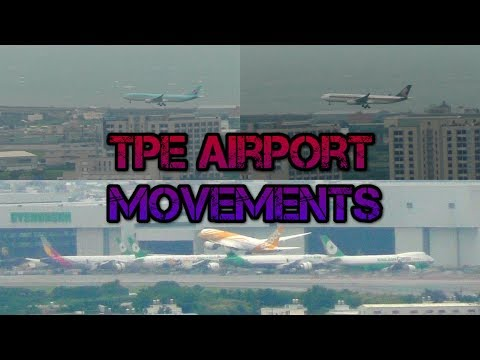 TPE Taipei airport aircraft movements with ATC