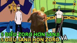 Zoro hơn Sanji những gì ? Và ngược lại Sanji hơn Zoro điều gì ?    Giả Thuyết    Truyện Tổng Hợp