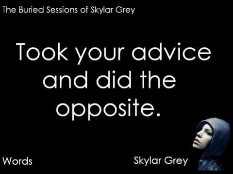 Skylar Grey - Words Lyrics Video