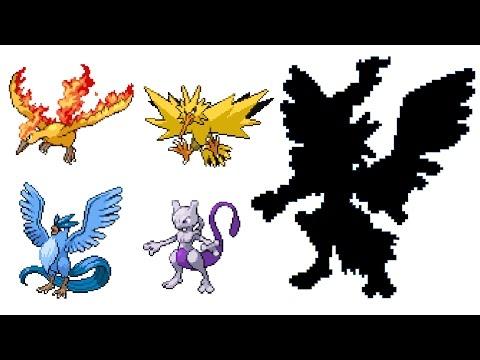 Pokemon Fusion Sprite: Request #39: All Gen 1 Legendary Pokemon Mewtwo and Trio