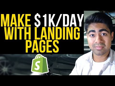 Highest Converting Landing Pages For $1K/Day | Complete Shopify Landing Page Tutorial thumbnail