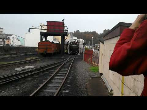 Putting coal into David Lloyd George on the ffestiniog railway