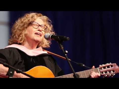 Chava Alberstein performs at Brandeis Commencement
