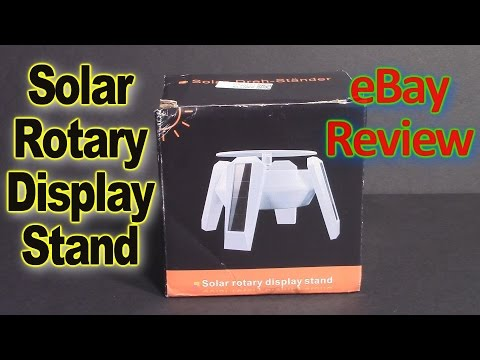 eBay, Solar Power Rotating Display Stand Review