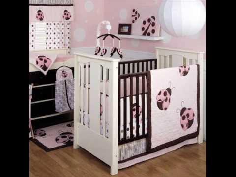 Mod Ladybug 4-Piece Baby Crib Bedding Set ; Ladybug Bedding Crib, Ladybug Bedding for Crib