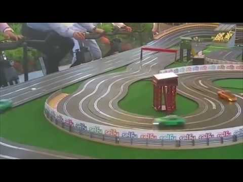 pedal powered scalextric  /  Bicycle scalextric